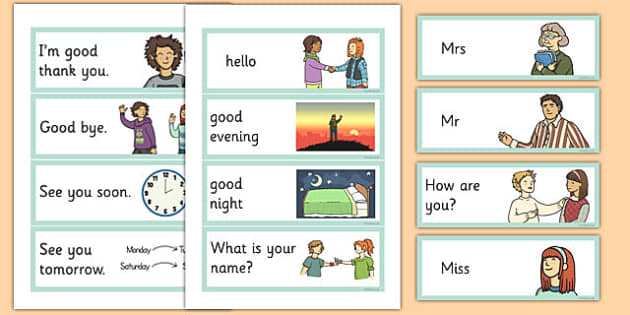 Greetings Flashcards English - english, greetings flashcards, flash cards, greetings