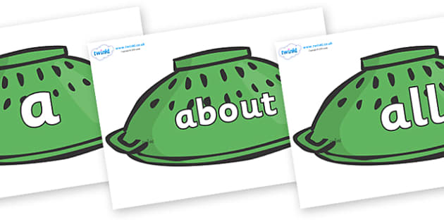 100 High Frequency Words on Helmets to Support Teaching on Whatever Next! - High frequency words, hfw, DfES Letters and Sounds, Letters and Sounds, display words