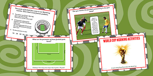 World Cup Morning Activities PowerPoint KS2 - football, sport