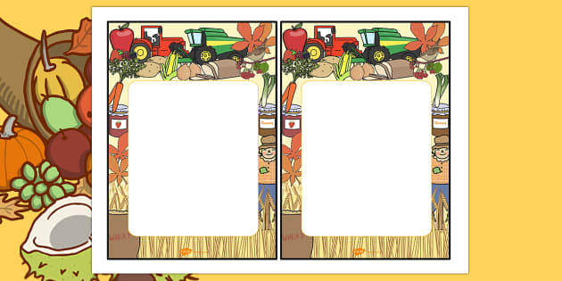 Harvest Themed Editable Notes - autumn, seasons, weather, note