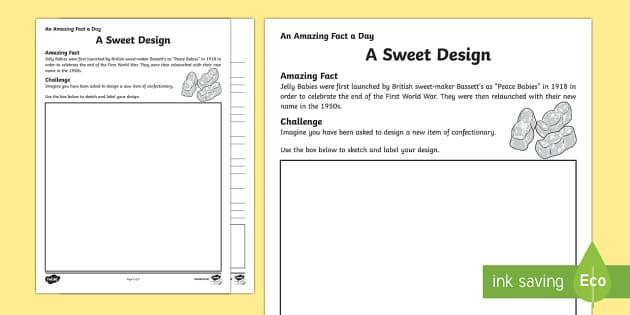 A Sweet Design Activity Sheet