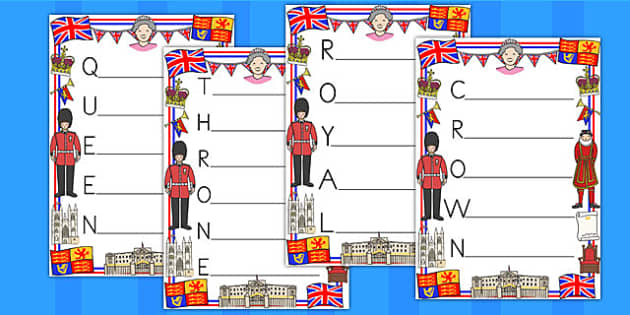 Royal Family Acrostic Poems - royality, queen elizabeth, poetry