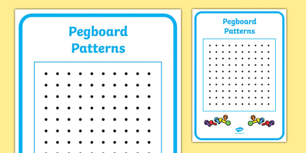 Peg Board Design Sheet - design sheet, peg, board, design, blank