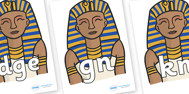 Silent Letters on Pharaoh - Silent Letters, silent letter, letter blend, consonant, consonants, digraph, trigraph, A-Z letters, literacy, alphabet, letters, alternative sounds