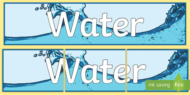 Water Display Banner - water, display banner, display, banner