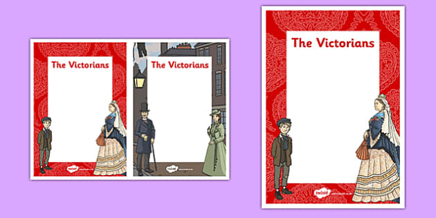 Editable Victorians Themed Book Front Covers - editable, victorians, book, front cover