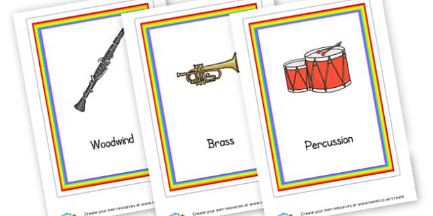 Orchestra Instrument Families (A4) Cards - Music Display Primary Resources -  Primary Resources, musical ins