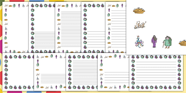 Page Borders to Support Teaching on The Twits - page borders, the twits, roald dahl