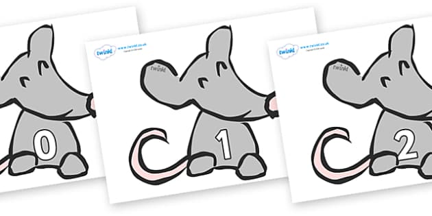 Numbers 0-50 on Mice - 0-50, foundation stage numeracy, Number recognition, Number flashcards, counting, number frieze, Display numbers, number posters