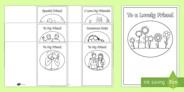 Friendship Card Templates friendship friends relationship – Friendship Card Template
