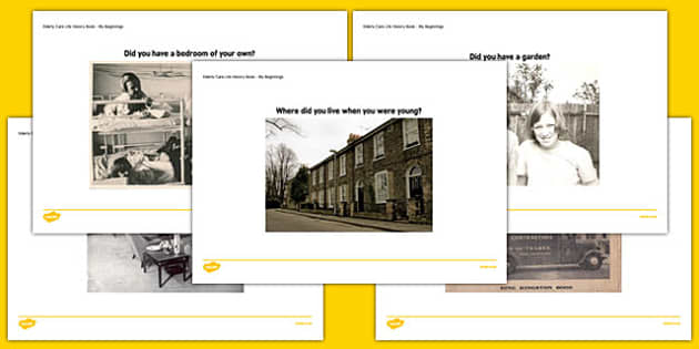 Elderly Care Life History Book Home Life Picture Prompts - Elderly, Reminiscence, Care Homes, Life History Books
