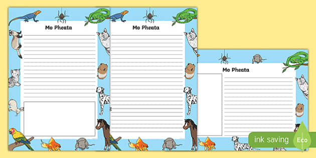 Mo Pheata Activity Sheet-Irish