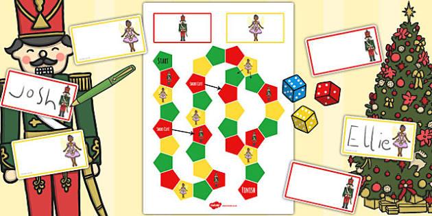 The Nutcracker Themed Editable Board Game - nutcracker, game