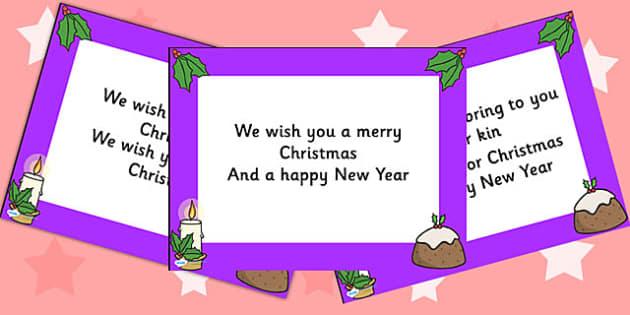 We Wish you a Merry Christmas Lyrics PowerPoint - christmas, xmas