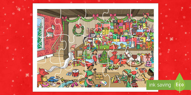 Santa's Workshop Jigsaw Activity