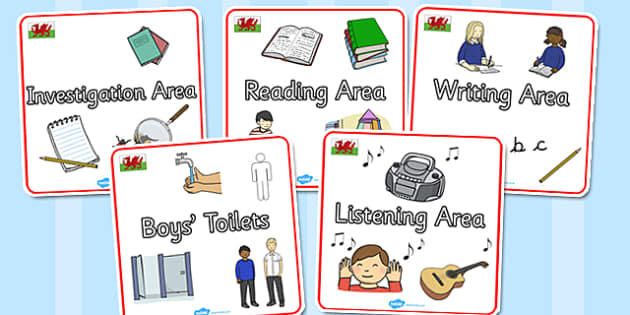 Wales Themed Editable Square Classroom Area Signs (Plain) - Themed Classroom Area Signs, KS1, Banner, Foundation Stage Area Signs, Classroom labels, Area labels, Area Signs, Classroom Areas, Poster, Display, Areas