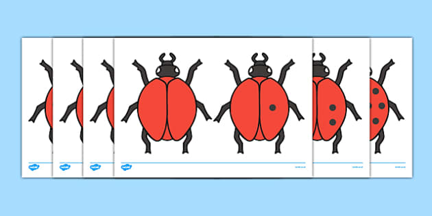 Ladybird Cut-Outs with Spots (0-10) - Ladybirds, counting, 0-10
