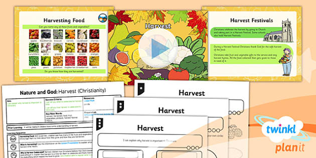 PlanIt - RE Year 2 - Nature and God Lesson 3: Harvest (Christianity) Lesson Pack - Harvest, Christianity