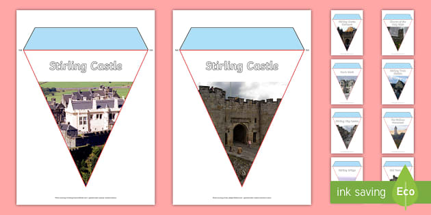 Stirling Photo Display Bunting-Scottish - Scottish Cities, Stirling, Scotland, Wallace Monument, Stirling Castle, Stirling Bridge, tourist att