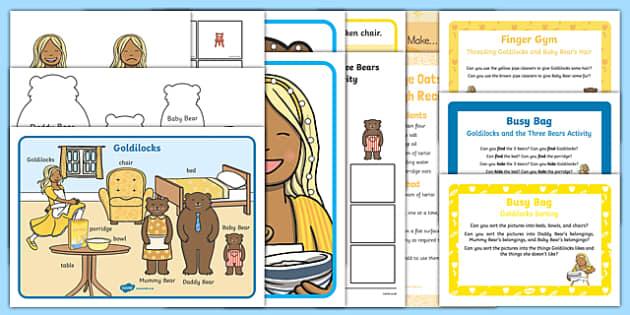 Childminder Goldilocks and the Three Bears Resource Pack