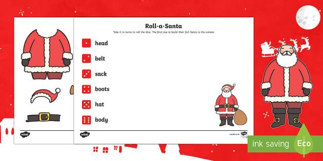EYFS Roll a Santa Dice Activity