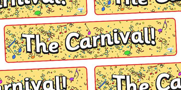 Carnival Display Banner - carnival, fancy dress, dressing up, display, banner, sign, poster