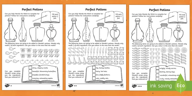 Perfect Potions Activity Sheets