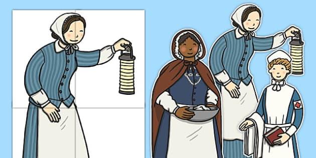 Nurturing Nurses Florence Nightingale Large Display Cut Outs - florence nightingale