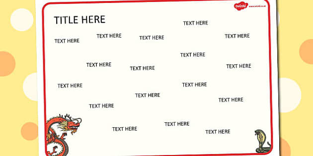 Chinese New Year Themed Editable Word Mat - literacy, writing