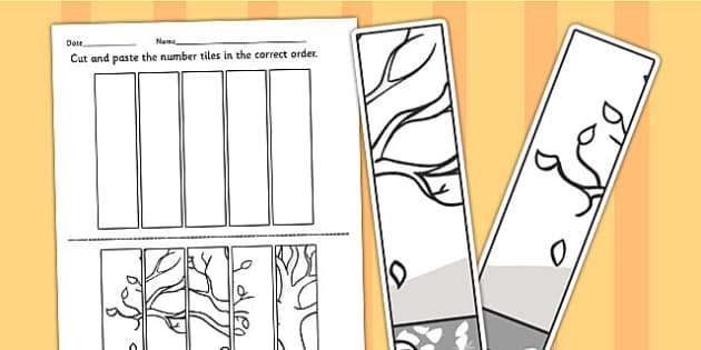 Autumn Themed Number Sequencing Puzzle - seasons, numeracy, maths