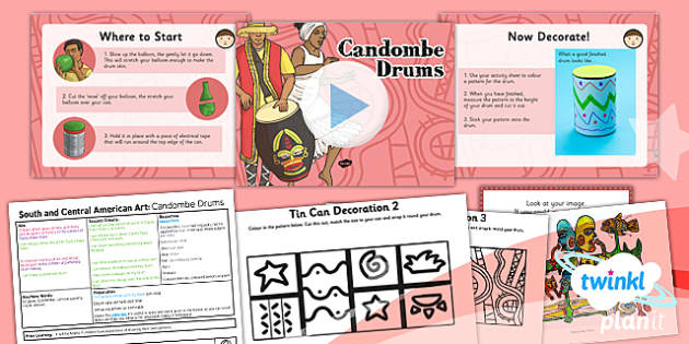 PlanIt - Art UKS2 - South and Central American Art Lesson 6: Candombe Drums Lesson Pack