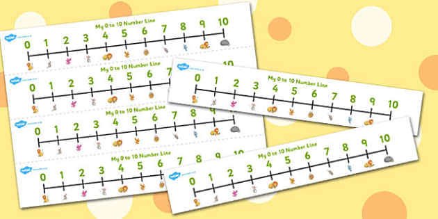 The Lion And The Mouse Number Lines 0-10 - number lines, 0-10