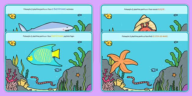 Animale marine, Planse pentru modelaj - plastilina, arte, vara