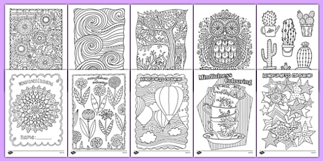 Adult Colouring Mindfulness Colouring Sheets Bumper Pack - mindfulness, colouring, adult colouring