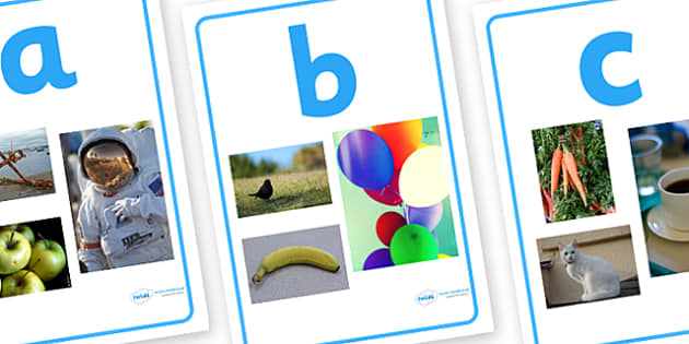 Alphabet Photo Display Posters - alphabet, posters, display posters, themed posters, images, pictures, key words, posters for display, photo posters, photo