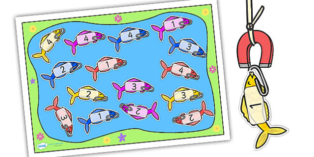 Editable Fishing Activity Cut-Outs - fishing activity, fishing activity cut outs, fishing game, fishing game cut outs, editable fish, editable fishing game