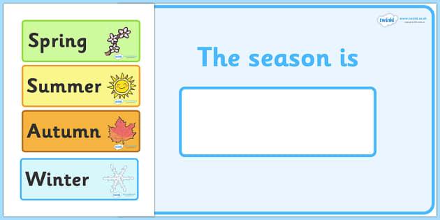 Seasons Calendar - calendar, classroom, days of the year, season, spring, summer, autumn, winter, different seasons