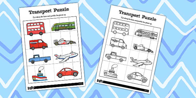 Simple Transport Puzzle - puzzles, activity, activities, game