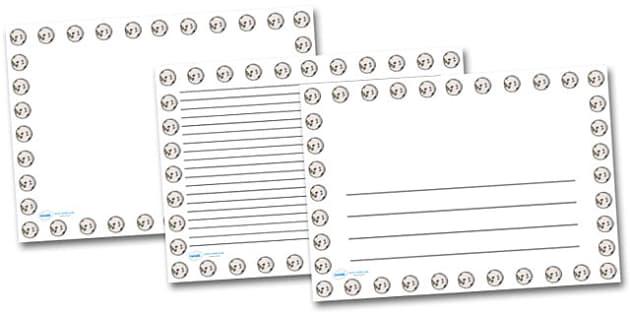 Moon Landscape Page Borders- Landscape Page Borders - Page border, border, writing template, writing aid, writing frame, a4 border, template, templates, landscape