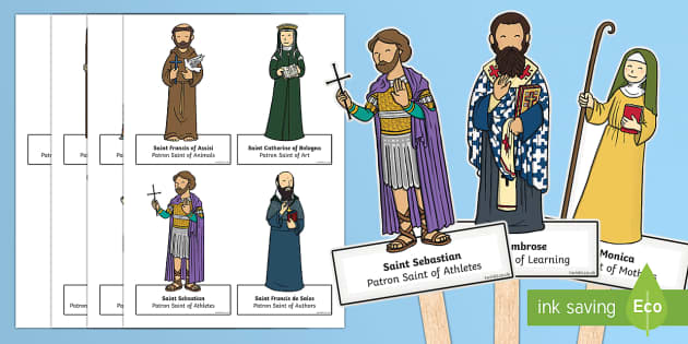 All Saints Day Stick Puppets