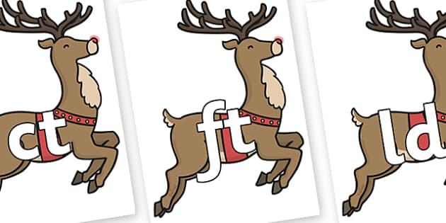 Final Letter Blends on Rudolph - Final Letters, final letter, letter blend, letter blends, consonant, consonants, digraph, trigraph, literacy, alphabet, letters, foundation stage literacy