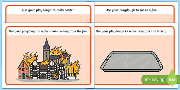 The Great Fire of London Playdough Mats