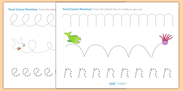 Pencil Control Sheets to Support Teaching on Sharing a Shell - control, story book