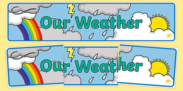 'Our Weather' Themed Display Banner-Irish