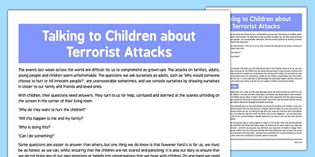 How to Talk to Children About Terrorist Attacks - how, talk, children, terrorist, attacks