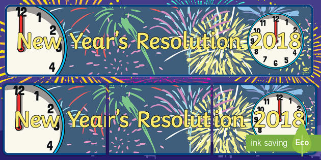 New Year's Resolutions 2017 Banner - new year, resolutions, wishes, hogmonnay, goals, promises, future, year, year ahead