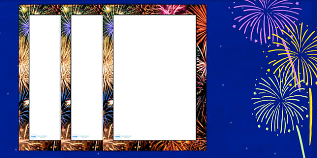 Firework Photo Page Borders - firework, photo page borders, page borders, writing frames, writing aid, writing templates, writing guides, lined pages, lines