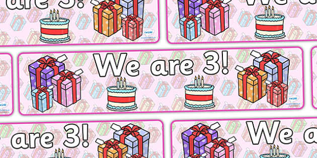 We Are Age Display Banners  - birthday banner, birthday display, birthdays, classroom displays, banner