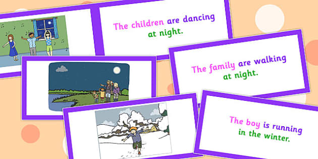 Picture Description Cards Who What Doing When Set 2 - cards