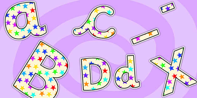 Star of the Day Lowercase Display Lettering-star of the day, lowercase, display lettering, lettering for display, star of the day lettering, literacy